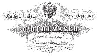 C. Bühlmayer K. u. K. Hofvergolder Logo